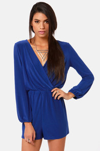 Camellia-on Club Royal Blue Romper