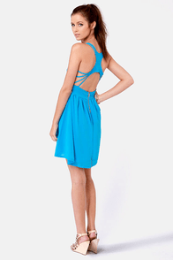Strappy Days Blue Dress at Lulus.com!