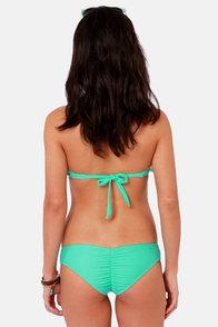 O'Neill Solid Ruffle Mint Green Bandeau Bikini at Lulus.com!