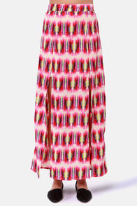 Element Eden Limbo Fuchsia Print Maxi Skirt at Lulus.com!