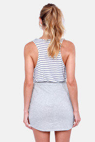 Love Skirts Heather Grey Skirt at Lulus.com!