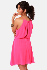 True Colors Fuchsia Pink Dress at Lulus.com!