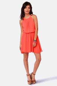 True Colors Neon Orange Dress at Lulus.com!