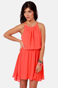 True Colors Neon Orange Dress at Lulus.com!