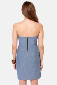 Volcom Frochickie Strapless Blue Dress at Lulus.com!