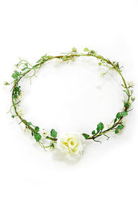 Fairy Weather Friend Ivory Flower Crown at Lulus.com!