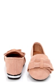 Sixtyseven Kaci 74463 Serraje Apricot Bow-Topped Smoking Loafers at Lulus.com!