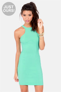 LULUS Exclusive Breaking Curve-few Mint Dress