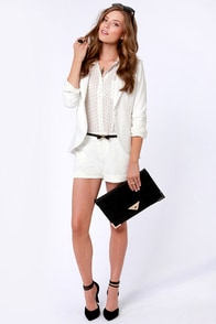 Spot Me Ivory Polka Dot Button-Up Top at Lulus.com!