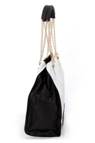 Melie Bianco Margaret Black and White Handbag at Lulus.com!