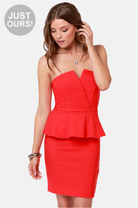 LULUS Exclusive Forget Me Notch Strapless Red Dress at Lulus.com!