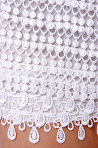 Thrilled to Bits White Lace Shorts at Lulus.com!