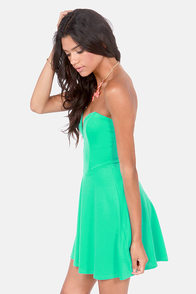 LULUS Exclusive Flare Share Mint Green Strapless Dress at Lulus.com!