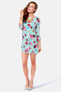 Poppy Love Light Blue Floral Print Dress at Lulus.com!