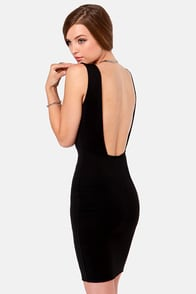 LULUS Exclusive Bateau-n Rouge Black Backless Dress at Lulus.com!