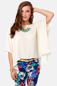 Square Necessities Cream Top at Lulus.com!
