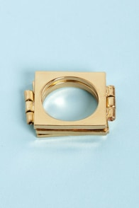 Treasures Unfold Hinged Gold Ring at Lulus.com!