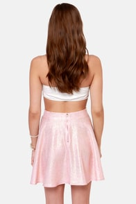 Flecks and the City Light Pink and Gold Skirt at Lulus.com!