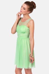 Would You Gather Mint Green Dress at Lulus.com!