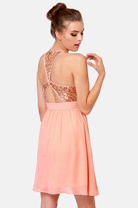 Sparks Fly Peach Sequin Dress at Lulus.com!