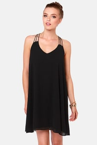 Strap-titude Test Black Dress at Lulus.com!
