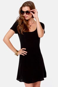 Backless is More Black Dress at Lulus.com!