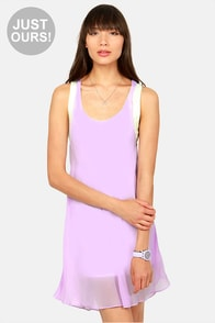 LULUS Exclusive Living on a Layer Lavender and White Dress at Lulus.com!