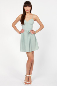 X & O Railroad Light Blue Striped Dress at Lulus.com!