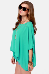 Square Necessities Seafoam Green Top at Lulus.com!