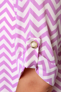 Poppin' Zags Lavender Chevron Print Dress at Lulus.com!