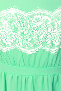 Laced Call Mint Green Lace Dress at Lulus.com!