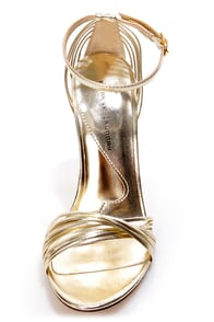 Chinese Laundry Legendary Light Gold Strappy Dress Sandals at Lulus.com!