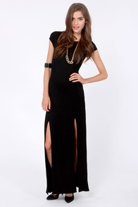 Dressed to a Tee Black Maxi Dress at Lulus.com!