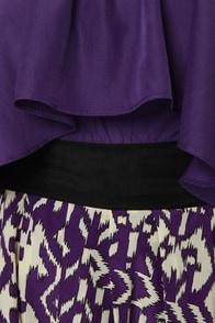 Exotic Print-cess Purple Print Dress at Lulus.com!