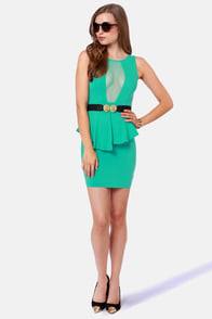 Look at This Mesh Teal Dress at Lulus.com!
