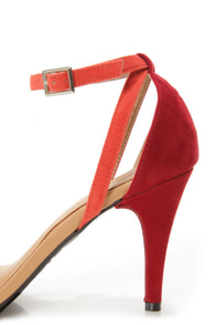 Promise Delma Black Multi Color Block High Heel Sandals at Lulus.com!