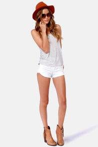 Behind Bars White and Blue Striped Tank Top at Lulus.com!