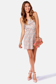 Floral Report Pleated Print Dress at Lulus.com!