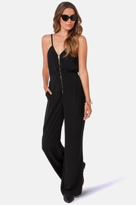 Queen of Pop Black Jumpsuit at Lulus.com!