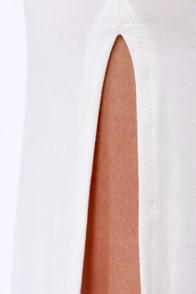 Dressed to a Tee Ivory Maxi Dress