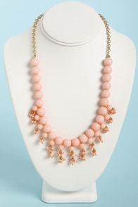 The Finishing Touch Light Pink Bead Necklace at Lulus.com!
