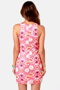 Totally Blossom Pink Floral Print Dress at Lulus.com!