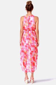 Just Add Watercolor High-Low Multi Print Dress at Lulus.com!