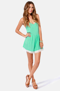 Life is Like a Song Mint Green Romper at Lulus.com!