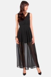 Modish Operandi Black Maxi Dress at Lulus.com!