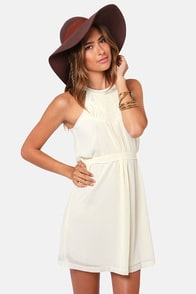 Limited A-dish-an Cream Dress at Lulus.com!