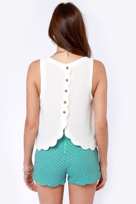 No Time Like the Pleasant Ivory Top at Lulus.com!