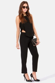 Hang Loose Cutout Black Jumpsuit at Lulus.com!