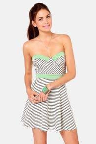 Line By Line Black and White Striped Dress at Lulus.com!