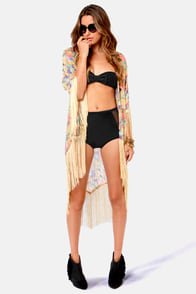 Mandalynn Lola Black High-Rise Bandeau Bikini at Lulus.com!